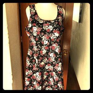 Torrid Skull and Roses Sleeveless  Dress Size 2